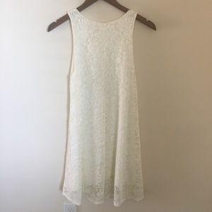 White lace mini flowy dress